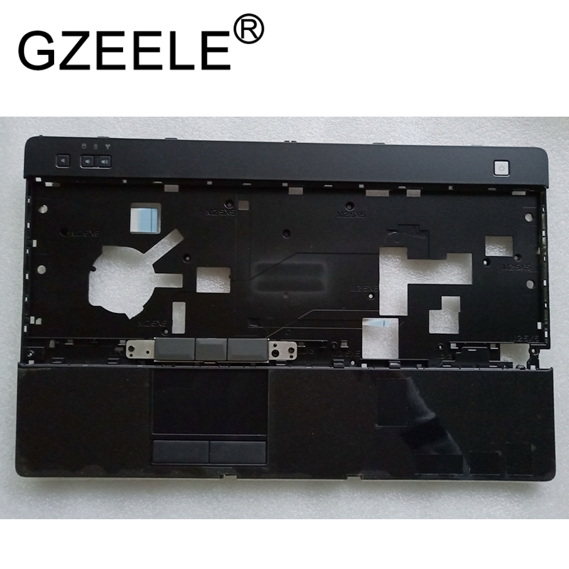 GZEELE NEW For Dell For Latitude E6520 palmrest upper case keyboard bezel laptop top cover with touchpad black laptop top cover for dell latitude e6400 with hinges black dp n mt649 wt197