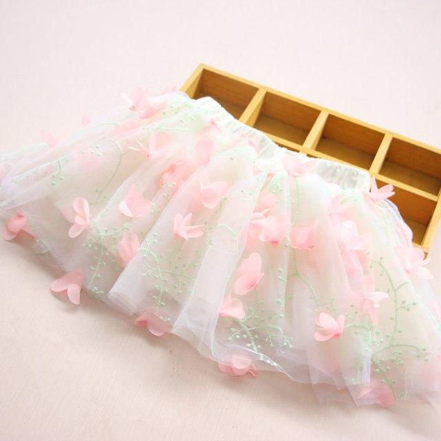 2016 New Fashion  Dance Cake Baby Girl Tutu flower Skirt For Children 2-7t Girls Pettiskirt For Selling