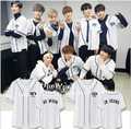 SF9 concert in same baseball uniform short-sleeved shirt male and female students sweethearts outfit on line who da clothes