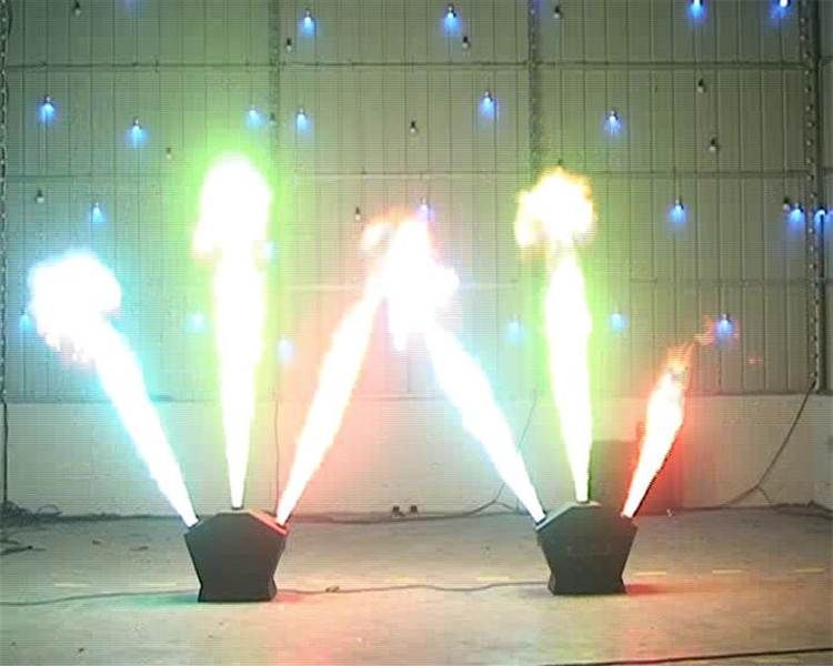 Free Shipping 1pcs/lot 1-3m Height Flame Projector Fire Machine DMX Cool Effects 220W Triple Flame Projector