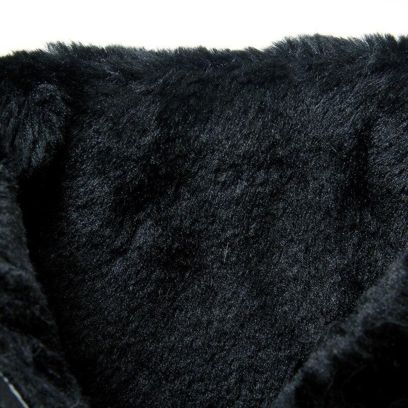 Zapatos Odetina Mujeres Botas Gran Invierno Pieles Botines amarillo 2017 Plataforma Lateral Caliente Animales gris De Conejo Cremallera Tamaño Nuevas 45 Nieve Plana Negro rxnXEgwfzx
