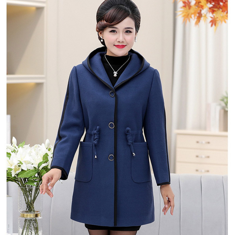2018 middle aged women's autumn and winter new middle aged mother dress P201816809