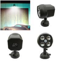6W LED Spotlight Motion Sensor Light IP65 Waterproof Light Control Llight Outwall Lights With Battery Indoor