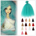 8PCS/LOT DIY Dolls Accessories 15CM Synthetic Fiber Hair Curly SD BJD Wig For Dolls 1/4