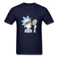 2018 New Summer Men Hot Sale Fashion Anime Cool Pop Mens T Shirts Rick And Morty