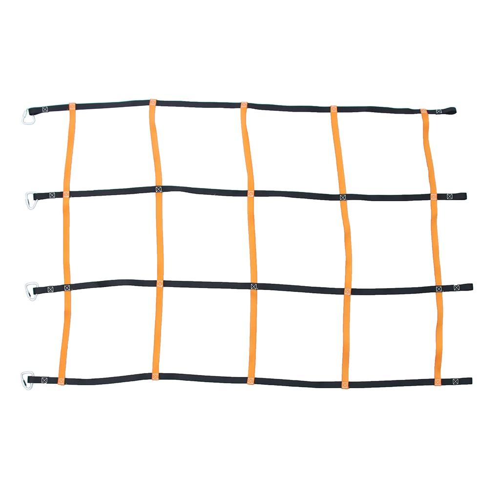 Kids Children Climbing Cargo Net Rope Ladder With 4 Hook Carabiner Buckle Weight Bearing 200kg Outdoor Climbing Garden Game