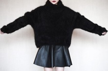 Thickening of the head of mink cashmere sweater free shipping 026
