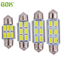 50 pcs/lot festoon led smd canbus 31mm 36mm 39mm 42mm c5w 6SMD 5730 5630 LED Memperhiasi Cahaya untuk Interior License Plate lampu(China)