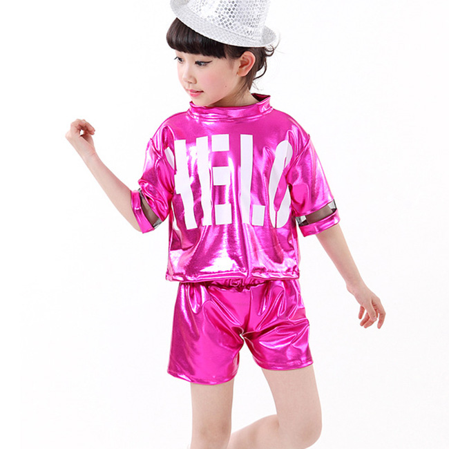 New Hip Hop Clothes for Girls Dancewear Kids Street Dance Clothing Costumes Jazz Modern Dance Clothes Set Top&Pants Size 110-160 new kids dancewear set boys girls sequined stage performance costume modern jazz hip hop dance wear top