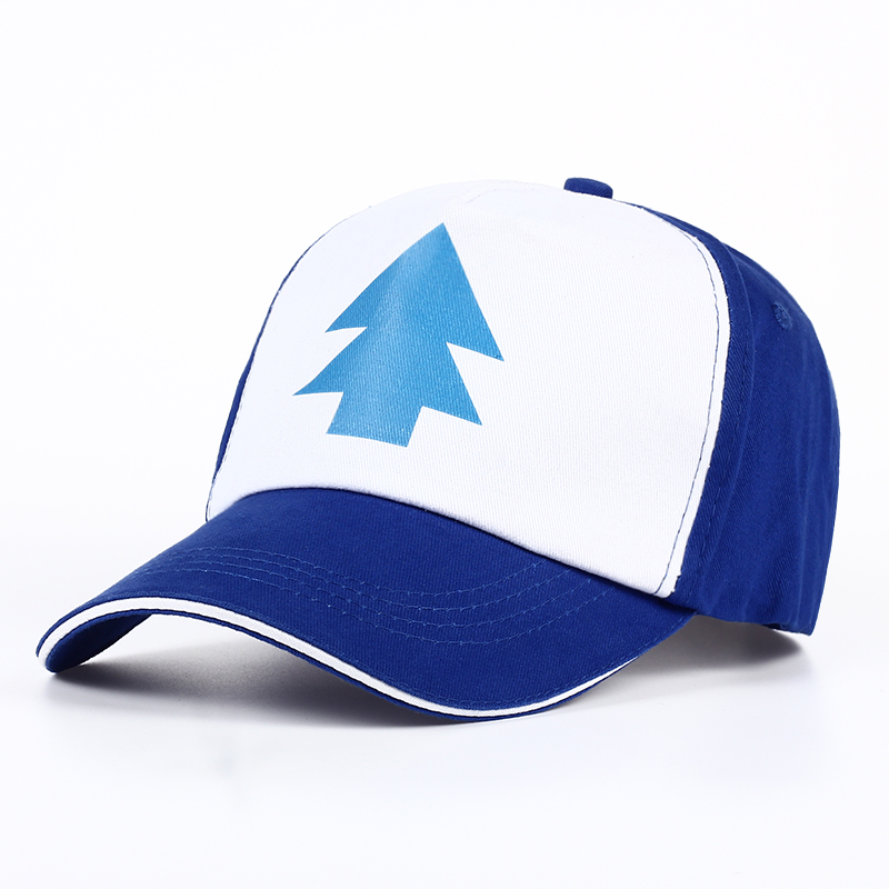 VORON Gravity Falls Baseball Cap BLUE PINE TREE Hat Cartoon Trucker Snapback Cap New Curved Bill Dipper Adult Men Dad Hat anime pocket monster flareon cosplay cap orange cartoon pikachu ladies dress pokemon go hat charm costume props baseball cap