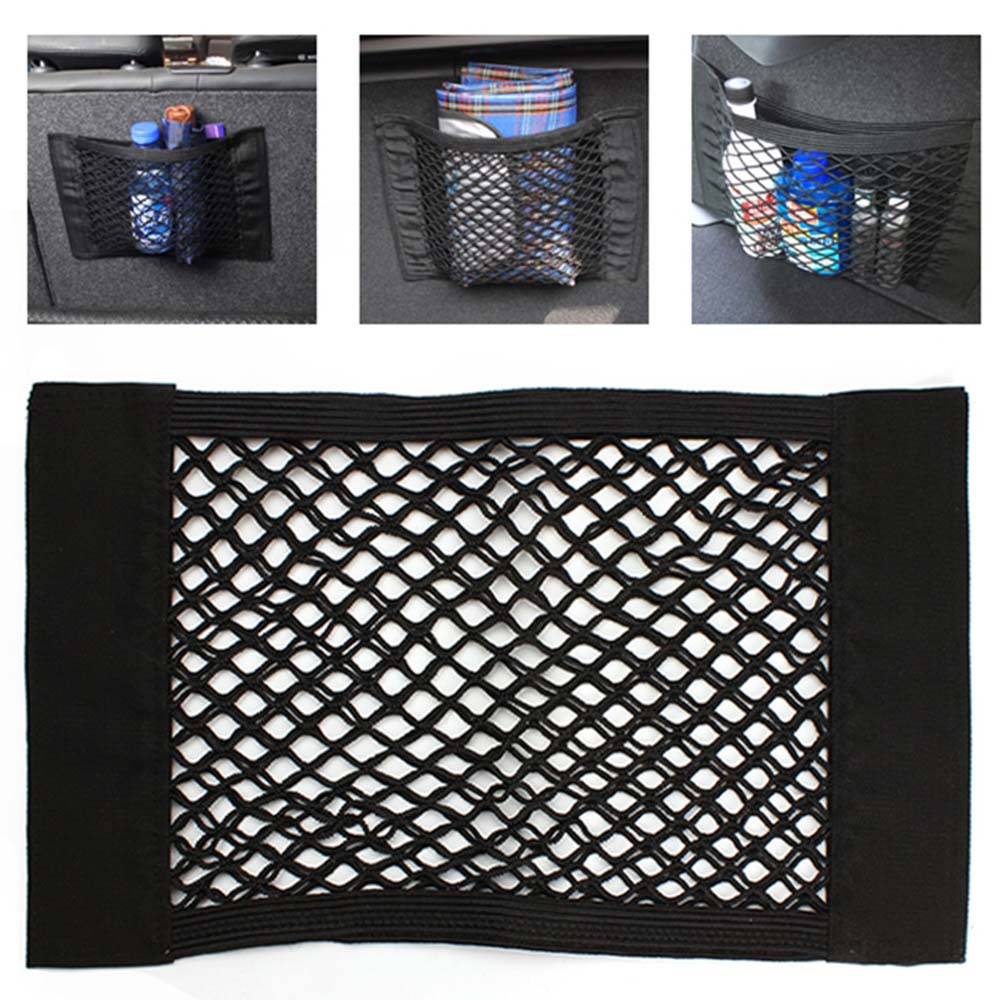 universal car trunk net box storage bag mesh bag 40cm 25cm car styling luggage holder pocket. Black Bedroom Furniture Sets. Home Design Ideas