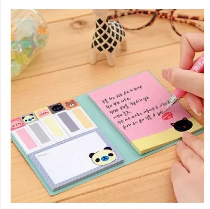 Korea Stationery Fashion Small Animal A6 Memo Pad Sticky N Times Stickers Free Shipping