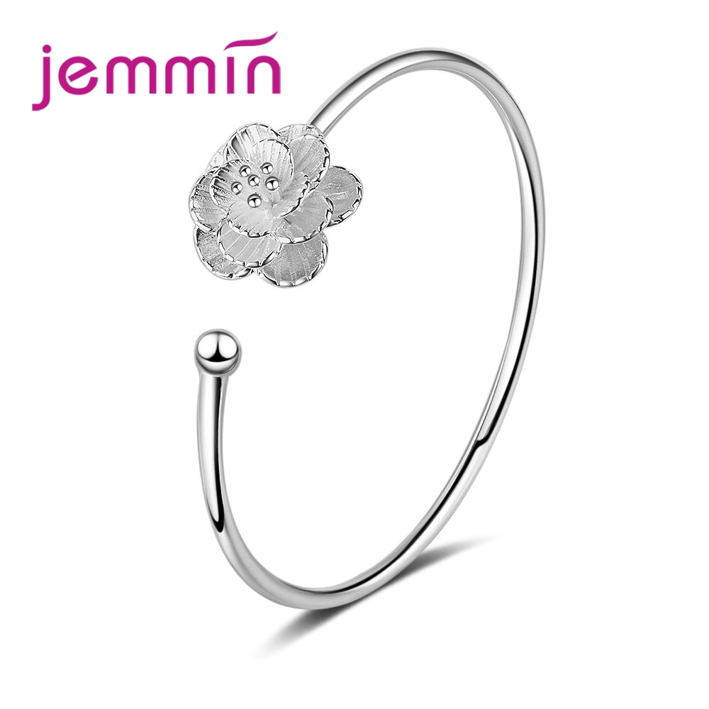 High Quality 925 Sterling Silver Openning Bracelet For Women Bridal Wedding Engagement Anniversary Best Lover Gift
