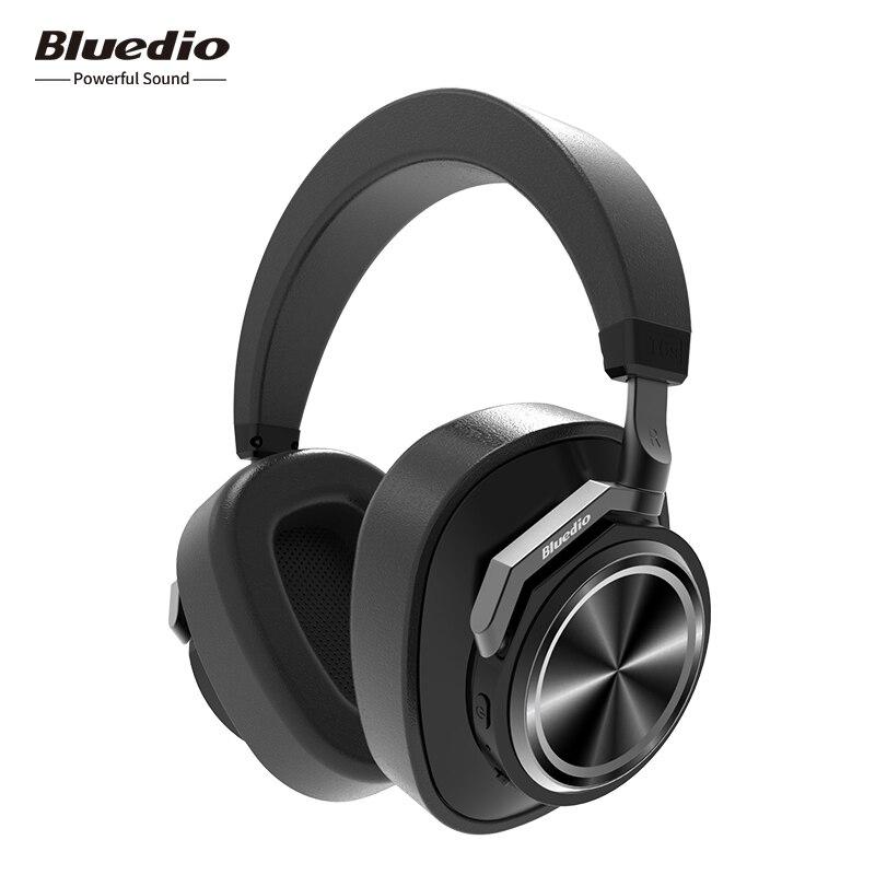 Bluedio T6S Bluetooth Hoofdtelefoon Active Noise Cancelling Draadloze Headset voor telefoons en muziek met voice control