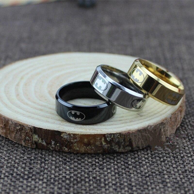 (1 Teile/los) 100% Edelstahl Ring Männer Batman Ringe Für Frauen