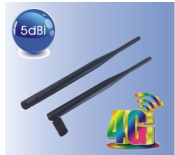 4GLTE wireless router SMA rubber antenna 5dBi 1600-2700MHz 2.4G wifi antenna