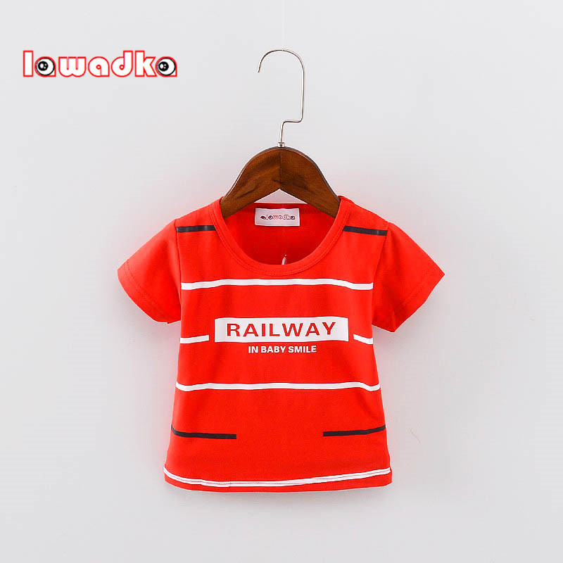 Striped Sport Baby Girls Boys t-shirt Short Sleeve t-shirts for boys Cotton Children Clothes