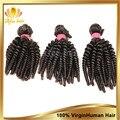 Необработанные перуанский натуральные волосы афро мелкие кудри человеческий волос weave3pcs мелкие кудри натуральные волосы естественный чёрный перуанские волосы