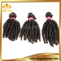 Não transformados peruano cabelo virgem afro crespo encaracolado peruano preto natural virgem crespo weave3pcs
