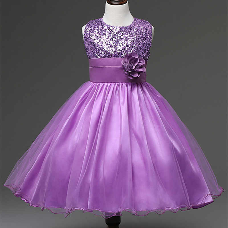GSCH שחור פרח ילדה שמלות רוז פאייטים O-צוואר תינוק יום הולדת שמלות טוטו לchirstening תינוק מסיבת שמלת נסיכת ילדה