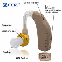 Mini BTE Hearing Aid Old Hearing Aid Rechargeable C 108 Audifonos Para Sordos Recargable Free Shipping