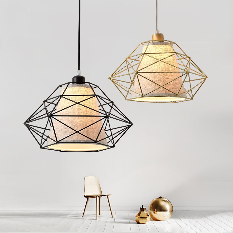 Nordic Style Iron Art Postmodern Concise Creative Pendant Light Restaurant Bedroom Living Room Decoration Lamp Free Shipping new arrival pendant light american style living room lamps restaurant lamp bedroom lamp lighting d8032 8 free shipping