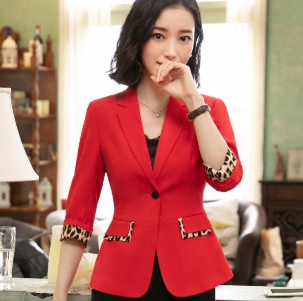 Black White Green Red Plus Size OL Summer Blazer for Women Short Sleeve Slim Fit Jacket Blazer Femme Office Ladies Formal Blazer