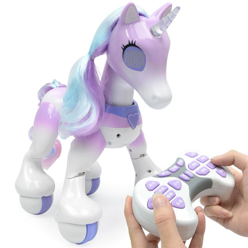 Nouveau Intelligente Électrique Cheval Intelligent Télécommande Licorne Enfants Jouets Mignon Animal RC Robot Jouet Éducatif Enfants Cadeaux
