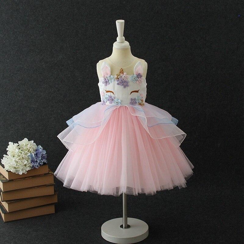 HTB1UQfuw41YBuNjy1zcq6zNcXXao Unicorn Dresses For Elsa Costume Carnival Christmas Kids Dresses For Girls Birthday Princess Dress Children Party Dress fantasia