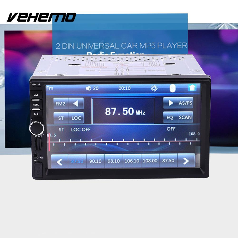Vehemo Car GPS Navigation FM Radio Bluetooth Music Player No DVD With North America Map ultra thin 7 touch screen lcd wince 6 0 gps navigator w fm internal 4gb america map light blue