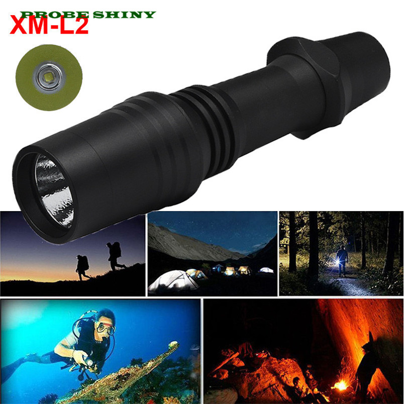 NEW!!! XM-L2 LED Scuba Diving Flashlight Torch 18650 Light Underwater 100m Free Shipping #NO25