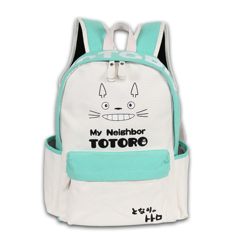 Fashion Men Women Boy Girls Japan Anime My Neighbor Totoro Book Bag White Light Blue Color Mixed Backpack Mochila Student Travel objective ielts advanced student s book with cd rom