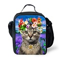 Cute 3D Animal Cat Printing Lunch Bag Women Food Thermal Bag Children Kid Girls Lunchbox Lancheira Picnic Bag Carry Bags