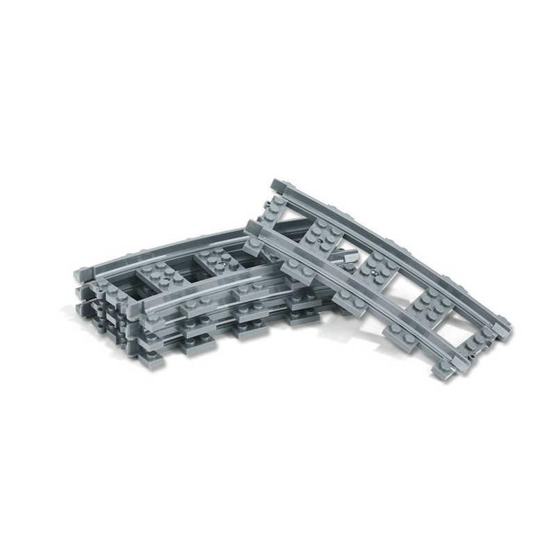 Nouveaux Trains de ville flexibles Rails voie modèle de chemin de fer définit les blocs de construction incurvés droits fourchus compatibles lego briques jouets