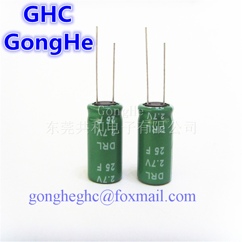 US $64 0 |free shipping long life super capacitor 2 7v25f ultra capacitor  long life cycle-in Capacitors from Electronic Components & Supplies on