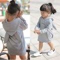 Bebé muchachas de los cabritos de los niños de los hoodies chándal niños clothing set de deporte au