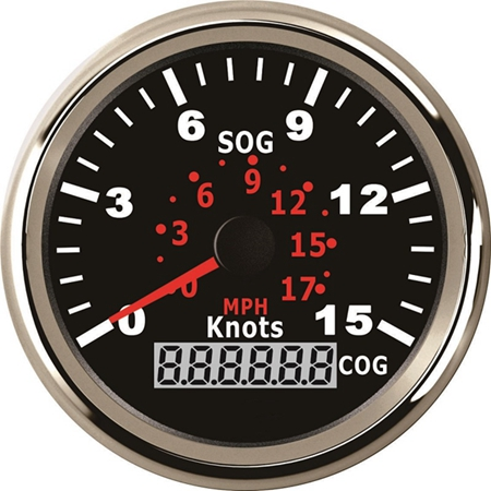 Universal 85MM GPS Speedometer Speedo Gauge 15Knots 0 17MPH for Boat Yacht Vessel 3 3 8