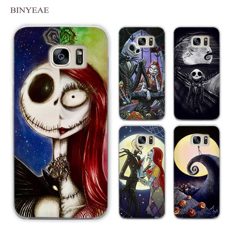 BINYEAE The Nightmare Before Christmas Clear Phone Case Cover for Samsung Galaxy S3 S4 S5 Mini S6 S7 S8 Edge Plus