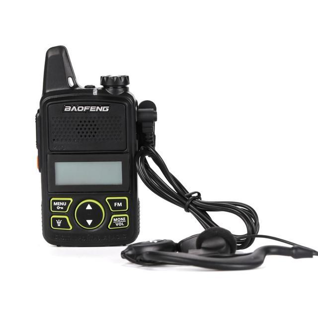 100% Baofeng BF-T1 Mini Walkie Talkie UHF 400-470 MHz Radio de transceptor FM Radio de dos vías transceptor HF walkie Talkie