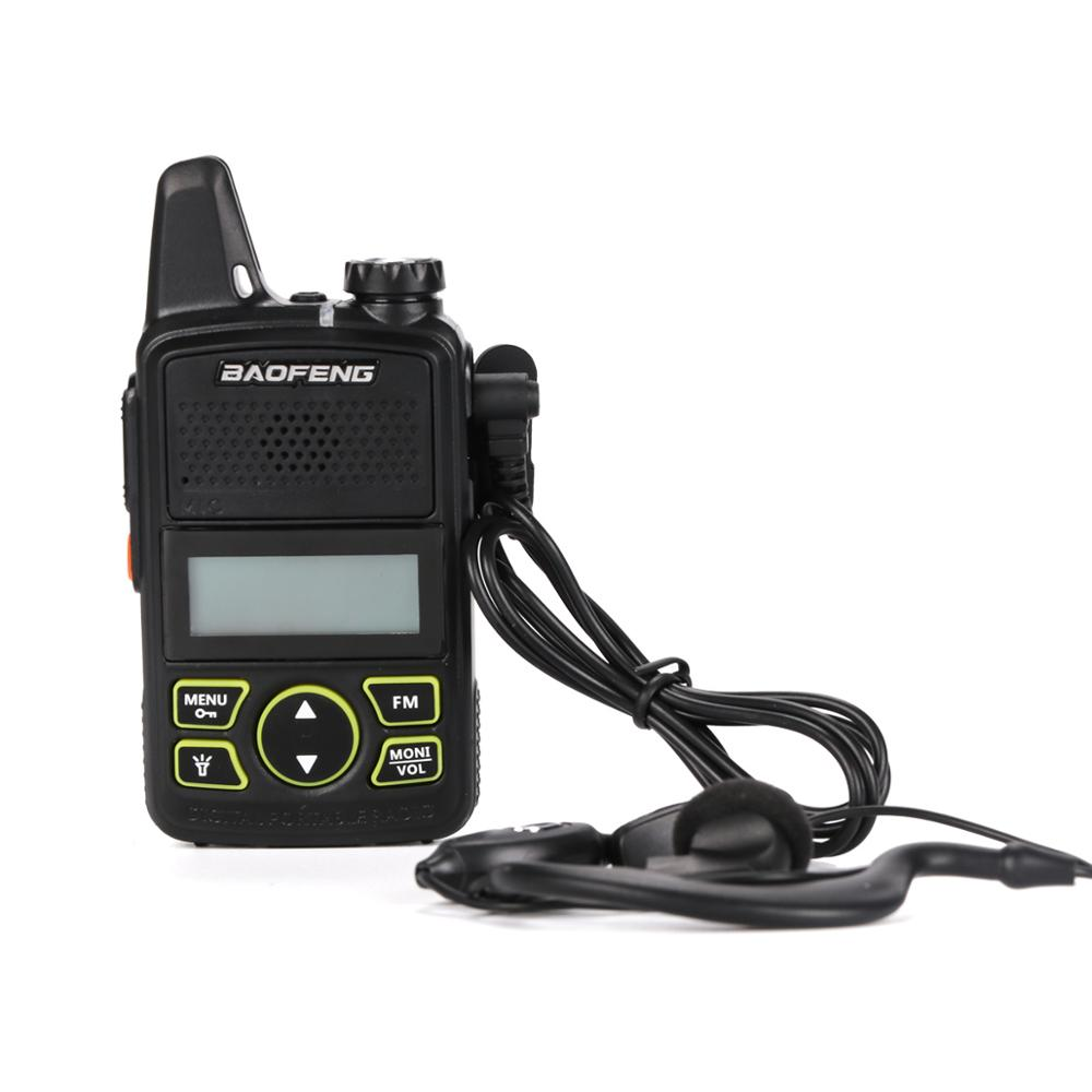 100% Baofeng BF-T1 Mini Walkie Talkie UHF 400-470MHz Radio FM Transceiver Handheld Two Way Radio HF Transceiver Walkie Talkie
