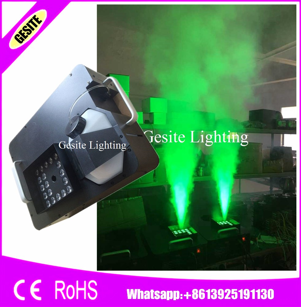 2PCS/LOT 1500W 24pcs*3W RGB CO2 Blast LED Fog Machine DMX512 DJ Up Spray Wireless Remote Control Smoke Machine Free Shipping number machine 7 position automatic numbering machine into the number coding page chapter marking machine digital stamp