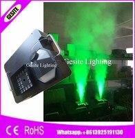 2PCS/LOT 1500W 24pcs*3W RGB CO2 Blast LED Fog Machine DMX512 DJ Up Spray Wireless Remote Control Smoke Machine Free Shipping