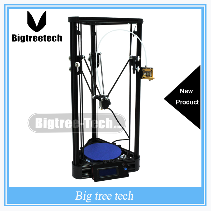 Diy 3D Printer Kit Full Self-assembly Delta 3D Printer Kossel Pulley Guide Rail Version DIY Kit Large Printing Size For BIQU original anycubic 3d pinter kit kossel pulley heat power big size 3d printing metal printer fast shipping from moscow