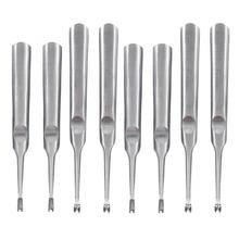 2 шт. DIY простой U Тип/V Тип Нержавеющая сталь кромка Скоба Beveller кожевенное ремесло инструмент для обрезки