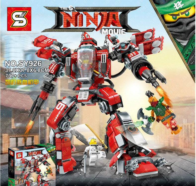 New Ninja The Ninjago Movie Kay's Mecha Building Bricks Figures Educational Toys For Children Compatible With Lego Best Gift 737pcs ninja kay s mecha building bricks ninja figure toys for children compatible legoe ninjagoes
