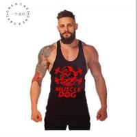 ONE A CAKE Summer Brands Vest Bodybuilding Clothing And Fitness Men Undershirt Solid Tank Tops Blank