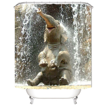 1PC 3D Elephant Water Shower Curtain Bathroom Products Waterproof Mildewproof Shower Curtains Bathroom Curtain Wholesale unique mandala mildewproof shower curtain
