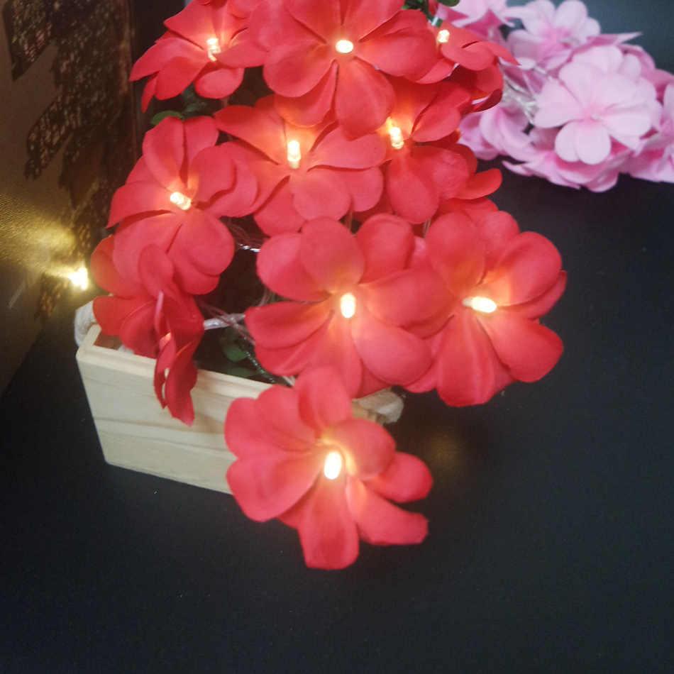 Lovely frangipani LED String Lights 10leds 1.5M, Wedding decoration,Kids home room flower decor. Event Party garland supplies