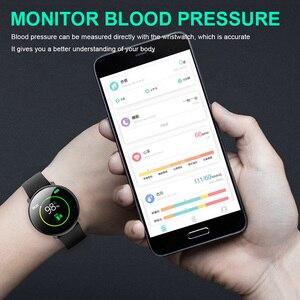 Image 5 - M31 homem inteligente monitor de freqüência cardíaca relógio esporte fitness rastreador pulseira tela cheia toque multi lingual smartwatch para android ios