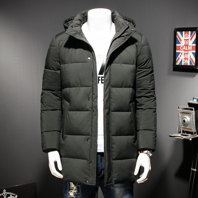 Special Price LENSTID 2018 Winter New Windproof Padded Jacket Men Warm Thicken Long Jacket Coat Brand Clothing Parkas Plus Size 6XL 7XL 8XL